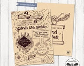 Magical Birthday Invitation, Printable Harry Potter Inspired Party Invite, Marauders Map Inspired Digital Party Invitation