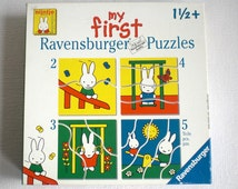 "Miffy Puzzle, ""My First Puzzle"" Nijntje ,""Miffy in the Playground"" Dick Bruna,Ravensburger Puzzle, 17 x 17 cm."
