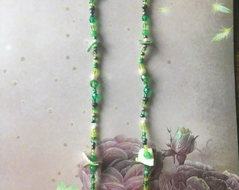 Rainforest shoulder duster earrings *free gift with purchase*