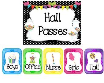 hall passes etsy