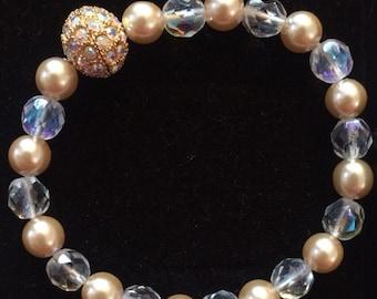 Joan Rivers Pave Crystal Ball Bracelet