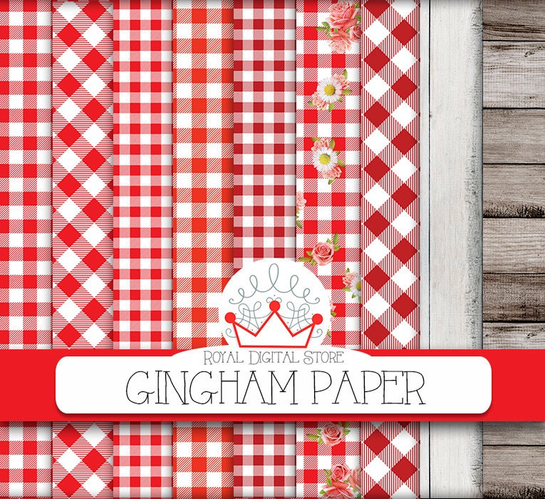 red checkered paper tablecloths