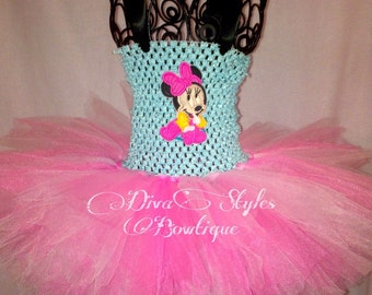 Minnie Tutu Dress, baby Minnie Tutu;Minnie Mouse Tutu; Minnie Mouse Tutu Dress