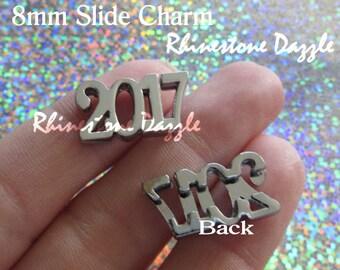 2017 8mm Slide Charm, 2017 Slider Charms