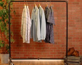 Industrial Pipe Clothing Rack Heavy Duty Garment Rack Retail Store Fixture