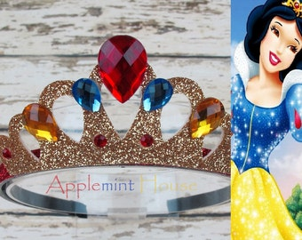 Snow White Headband,Snow White Birthday Crown,Snow White Crown, Snow White Elastic Headband,Disney princess crown,Disney Princess Crown