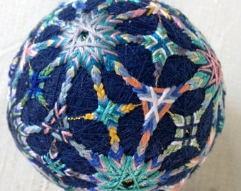 Blue Patchwork Temari