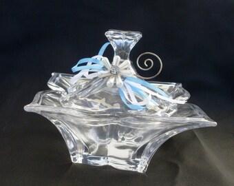 cofanetto, contenitore per cioccolatini, ornamento vetro coperchio, casket, container for chocolates, refined ornament clear glass with lid