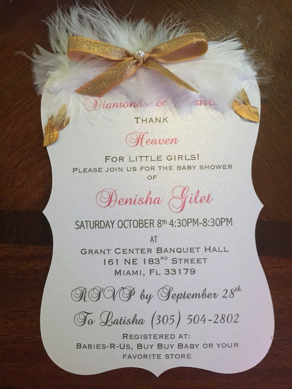 heaven sent baby shower invitation by knick knack paper shack