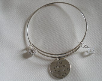 Silver 'She Believed She Could So She Did' - Motivational Bangle