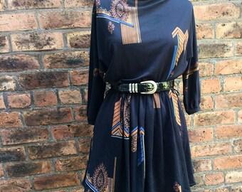 1980's long sleeved dress