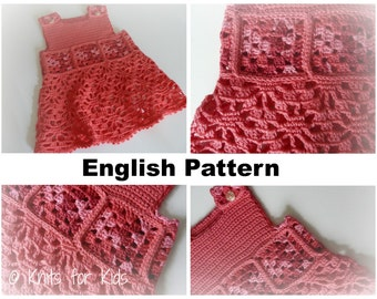English Crochet Pattern Baby Pants / Jumpsuit by ...