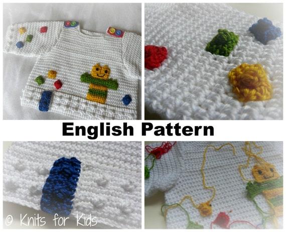 Free English Baby Crochet Patterns : English Crochet Pattern Baby Sweater Building by ...