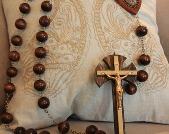 Large Wall Rosary (dark brown)