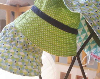 Bob cotton reversible baby and child green and turquoise