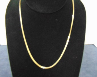 Vintage Estate 14k Yellow Gold Italian Necklace 3.1g #E2203