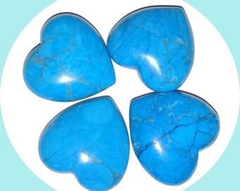 Blue Howlite Heart Gemstone
