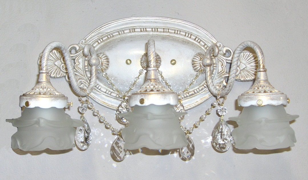 Shabby Chic Bathroom Vanity Light 2 Or 3 Light Bathbar Or