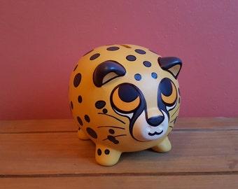 Cheetah Piggy Bank