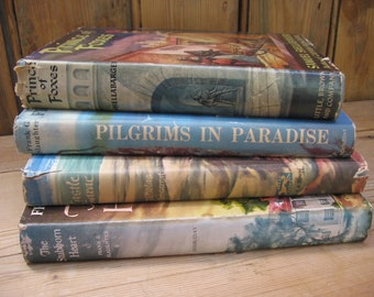 Vintage Collection of Four Mid-Century Romance Novels Hardcover with Original Dust Jackets