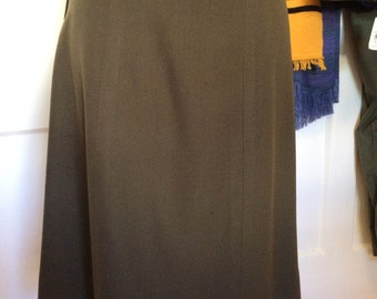WWII Era WAC Skirt, Women's army uniform skirt, Vintage Size 18S