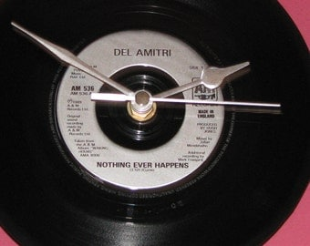 "Del Amitri nothing ever happens  7"" vinyl record clock"
