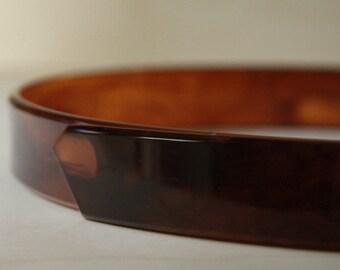 Vintage 60 's bakelite belt hard. Vintage Brown belt.
