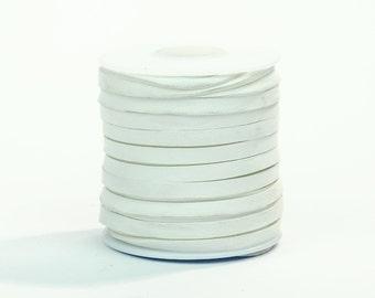 White Deerskin Lacing - (1) 50 foot spool, 3/16th inch lace.  Deerskin lace.
