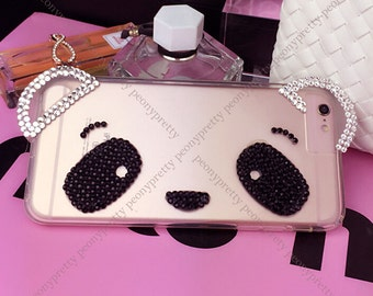 rhinestones faux pearl iphone 5s/6/6 plus/6s/6s plus mobile cell phone cover case
