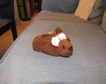 Medium Brown Teddy Bear Slippers