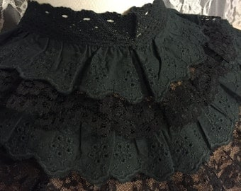Black Ruffle Cleavage Cover