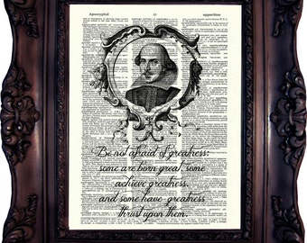 Book Art Print Shakespeare Quote Book Art Literary Quotes Gift Ideas for Book Lover Book Quote Print Housewarming Gift Shakespeare C:715