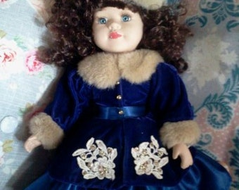 SALE...Beautiful porcelain Fancy Doll