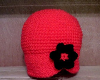 Hand Crochet Baby/Toddler Girl Flapper Style Cloche Hat Size X-Large