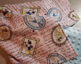 Disney Princess Minky Blanket Handmade Baby Toddler Girl Shower Gift / Custom Large Vintage Inspired / Snow White / Cinderella / Belle