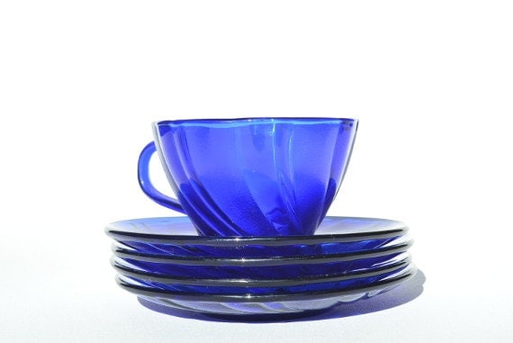 Blue Home Decor Cobalt Blue Glassware French Kitchen Decor