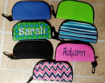 Personalized or monogram sunglass cases, please list the name or monogram that you want to be added to your case with order.