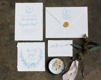 Knot Collection- Royal Suite- Modern Calligraphy Invitation Suite