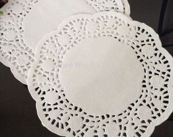 20 pieces doily to under-cake white lace wedding cake