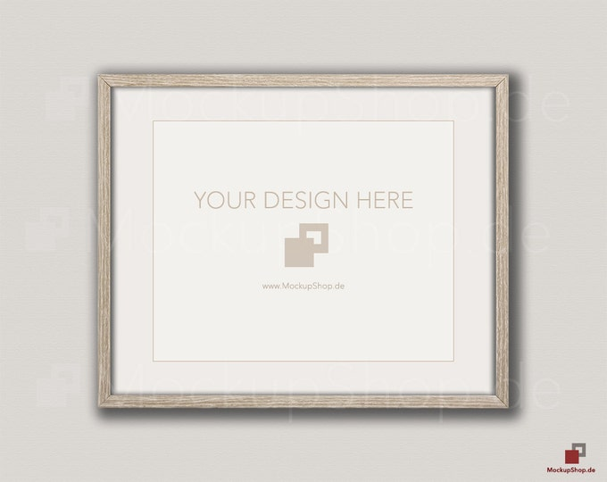 Weathered brown MOCKUP PHOTO FRAME on old white wooden wall, Frame Mockup, Amazing browm photo frame mockup, Empty Frame, Digital Download