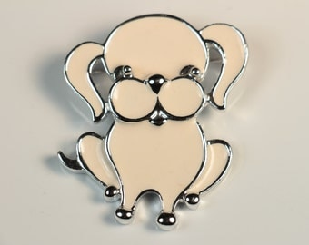 Sarah Coventry Puppy Brooch