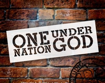 One Nation Under God - Modern Grunge - Word Stencil - Select Size - STCL1253 by StudioR12