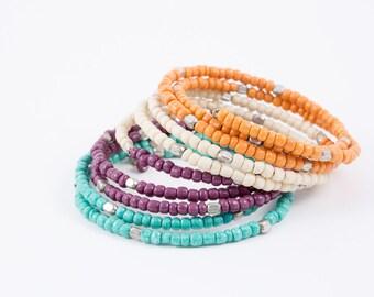 4-Color Coil Wrap Bracelet (See Colors)