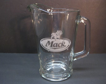 Mack Truck Beer Water Pitcher