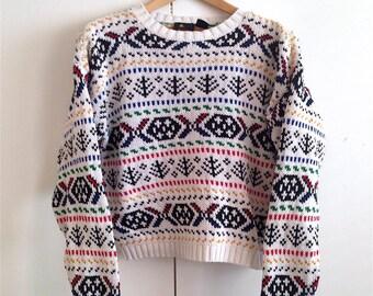 LIZ-SPORT Chunky Sweater SZ M