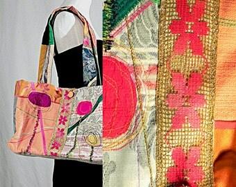 Colorful Ethnic, Travel Handbag, Embroidered Bag, Hill Tribe Bag, Tribal Handbags, Travel Cross, Body Messenger Bag, Ethnic Shoulder Bag