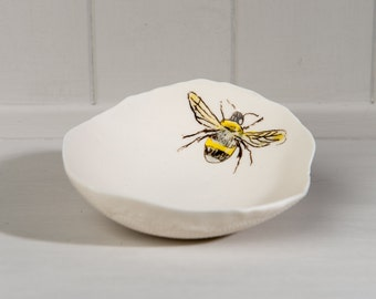 Small Porcelain Bumble Bee Bowl