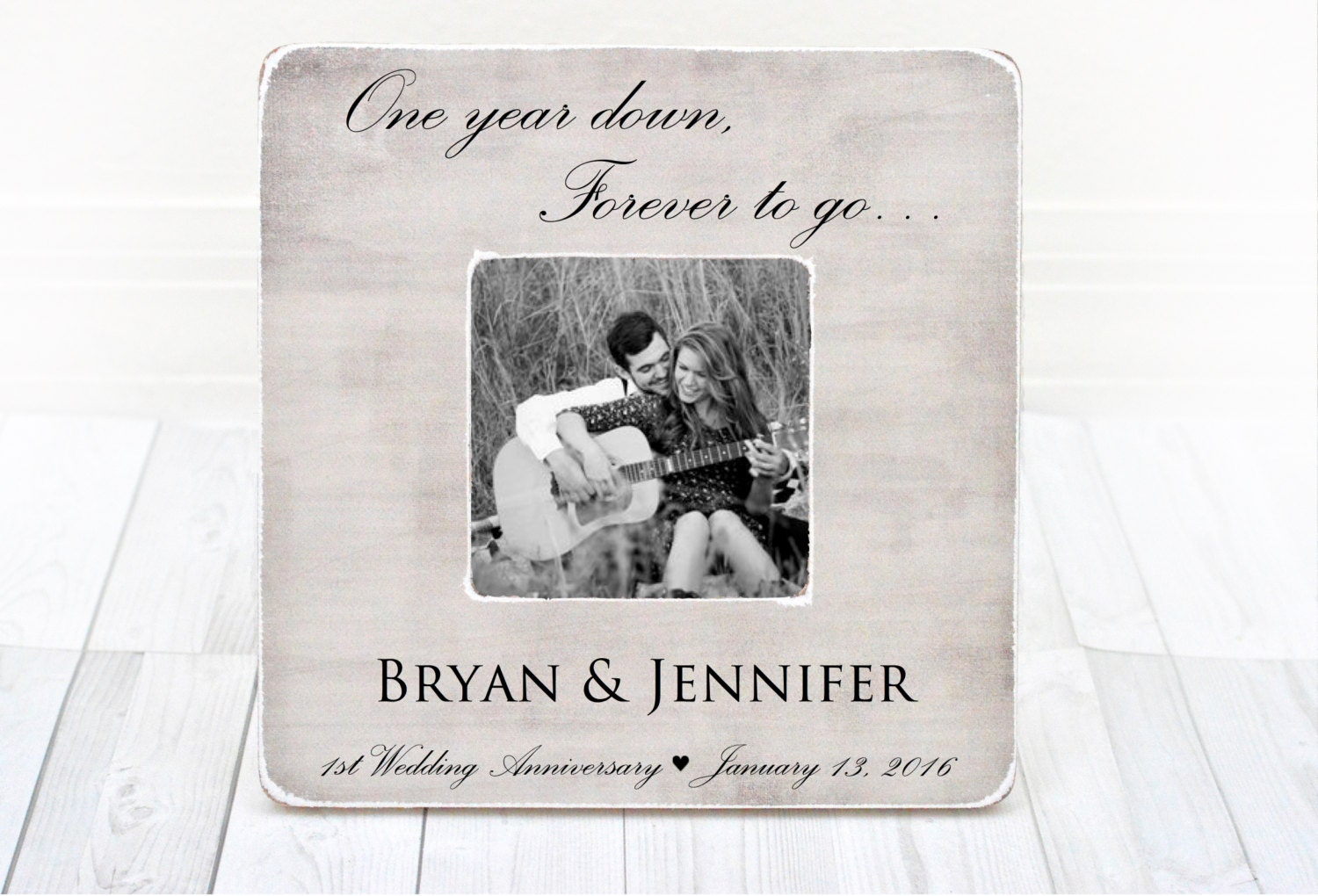One Month Wedding Anniversary Gifts: Anniversary Picture Frame, 1st Anniversary Gift Picture