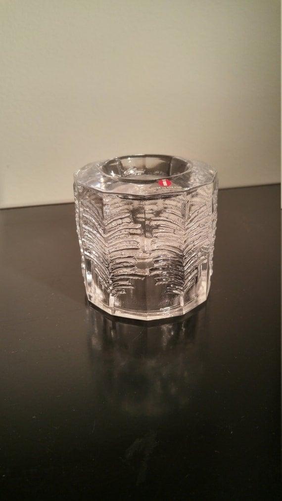 iittala Kuusi glass candle holder by Jorma Vennola