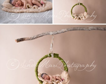 Digital Backdrop Newborn Photography Prop (Mossy Swing)